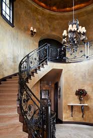 Banister Stair Iron Banister Staircase Mediterranean With Circular Stair Old