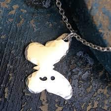 amazon com semicolon butterfly necklace handmade