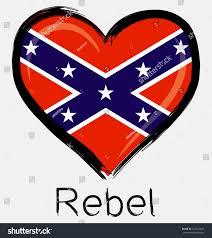 Rebel Flag Picture Love Brush Grunge Rebel Flag Stock Vector 222123631 Shutterstock