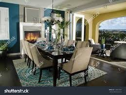 Dining Room Office Dinning Room Interior Home Architecture Stock Stock Photo