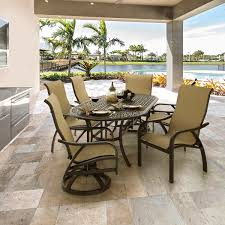 Sling Patio Dining Set - wales 7 piece sling dining set