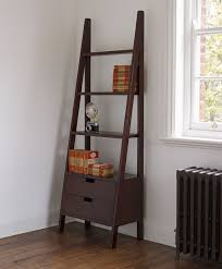 Red Ladder Bookcase by White Ladder Shelf Bookcase For Contemporary Living Room Design