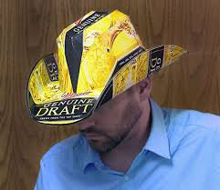 bud light beer box hat beer box cowboy hats