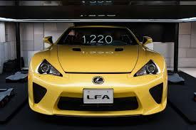 lexus lfa yellow lexus lfa roadster at the media ambition tokyo 2015