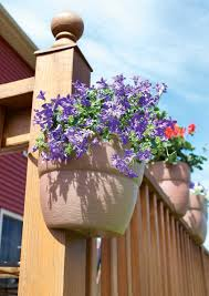 self watering vertical planters amazon com emsco bloomers post planter both permanent and