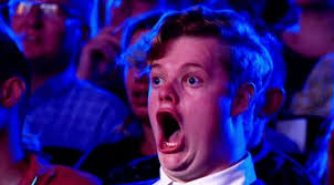 Surprised Face Meme - this guy s face on australia s got talent was just made for gifs and