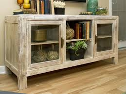 White Sideboard With Glass Doors by Check Out A Neutral Wood Cottage Style Credenza With Glass Doors
