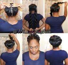 how to pack natural hair printrest faux bun protective style on natural hair msnaturallymary