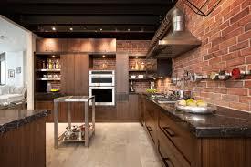 cuisine industrielle loft loft cuisine bois noyer frene quartz inspirations avec cuisine style