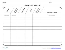 reading worksheets context clues multiple choice adjective work