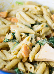 one pot sweet potato and spinach pasta recipe vegetarian