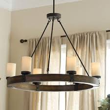 Wood Iron Chandelier 6 Light Brown Chandelier Intended For Awesome House Wood Iron