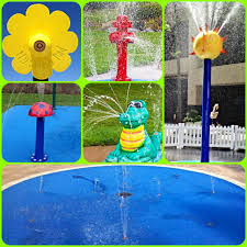 fun and unique splash pad features for you backyard residential