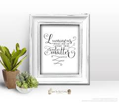 star wars yoda wall print luminous beings quote printable