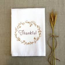thankful tea towel thanksgiving autumn from applewhite on etsy