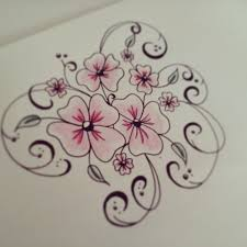 how to draw flowers for beginners easy version tattoo flowers
