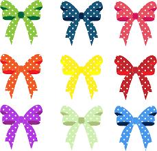 clipart colorful ribbons and bows polka dots