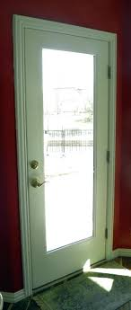 Flush Exterior Door Glass Entry Doors Interior View Of A Glass Fiberglass Flush