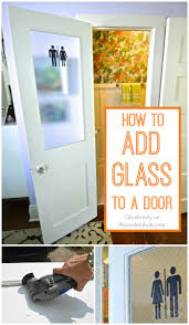 how to add glass to cabinet door