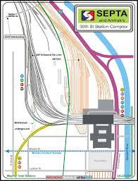 Septa Regional Rail Map Septa U0027s And Amtrak U0027s 30th St Station Map