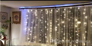 warm white lights 300led window curtain