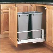 kitchen trash cabinet hampton bay assembled 18x34 5x24 in pull out trash can kitchen