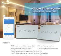 remote to turn off lights xenon wifi smart remote control wall switch 3 gang us light switch
