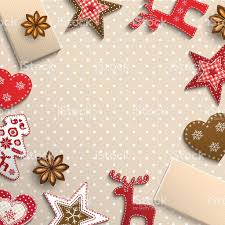 christmas background small scandinavian styled decorations lying