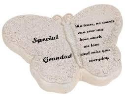 memorial plaque butterfly grandad grave ornament rememberance