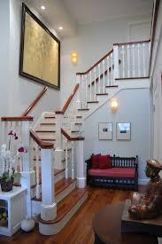 Dark Wood Banister Stair Banister Staircase Traditional With Dark Wood Floor Dark