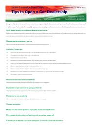 car dealerships business plan business plan cmerge