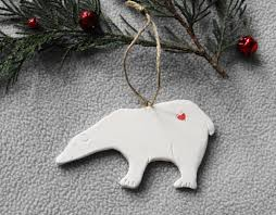 handmade porcelain polar ornament porcelain ornament