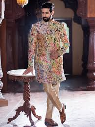wedding dress indo sub silk wedding wear indo western sherwani kurta