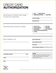 6 hotel credit card authorization form authorization letter