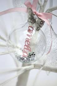 personalised papercut glass bauble studio glass and christmas