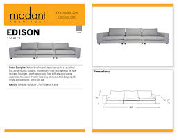 Polywood Sofa Edison 3 Seater Sofa Gray