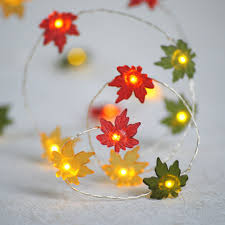 battery lighted fall garland amazon com cordless battery operated 76 lighted maple leaf harvest