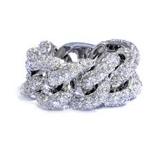 chain rings gold images 4 00ct tdw diamond quot chain link quot ring in 14kt white gold rings jpg