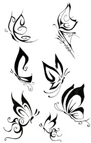 free tattoo designs printable aztec to print angel white butterfly