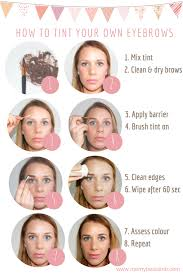 how to tint your own eyebrows a step by step guide makeup