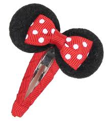 minnie mouse hair bow easy mickey mouse hair bow clip hip girl boutique llc free