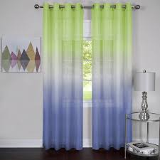 amazon com rainbows and sunshine ombre sheer window curtain panel