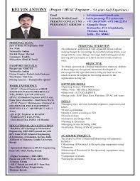 Hvac Resume Examples by Kelvin Antony Cv Project Hvac Engineer With 5 Years Gulf Experien U2026