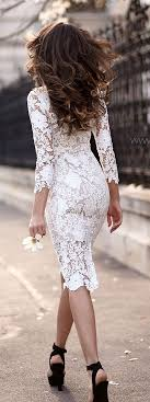 white lace dress with sleeves knee length the 25 best lace dress with sleeves ideas on gowns