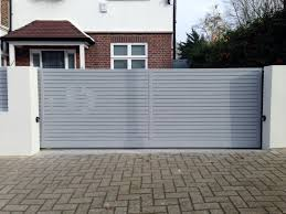 front boundary wall screen automated electronic gate installation