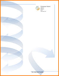 6 free printable letterheads cv sample format