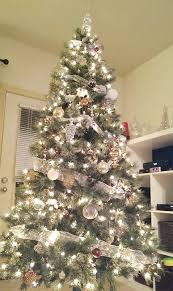 Blue And Silver Christmas Tree - silver christmas trees merry christmas a white and silver