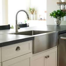 kitchen with apron sink basic kitchen sink types