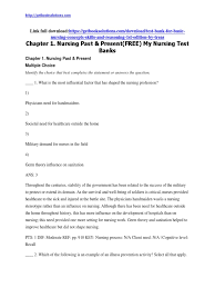 test bank for basic nursing concepts skills and reasoning 1st