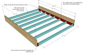 How To Build A Cal King Platform Bed Frame by Ana White Farmhouse Bed Calif King Diy Projects